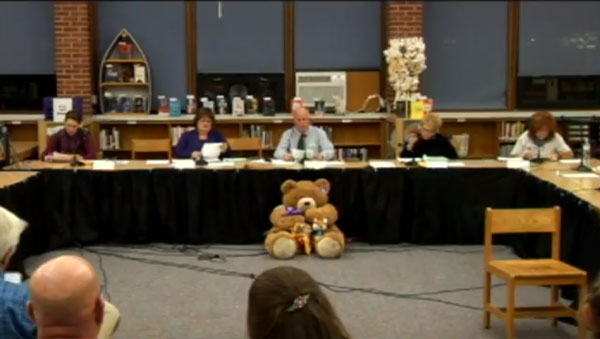 Photo of School Committee Meeting, 11/14/17