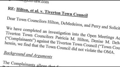 Photo of No OMA Violation: RI Attorney General Adds to the List of Dismissed Complaints