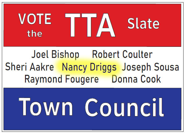 Photo of TTA Candidates for Town Council Pledge to put People, not Government, First